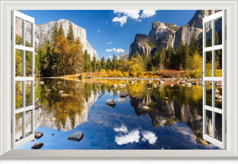 Wall Decal Yosemite view from window