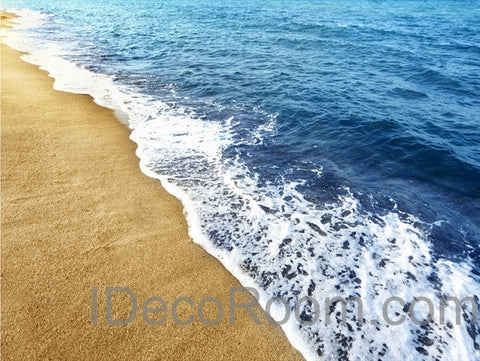 Image of Beach Wave 00005 Floor Decals 3D Wallpaper Wall Mural Stickers Print Art Bathroom Decor Living Room Kitchen Waterproof Business Home Office Gift