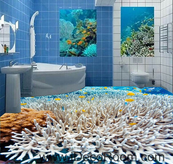 White Coral Under The Sea 00026 Floor Decals 3d Wallpaper