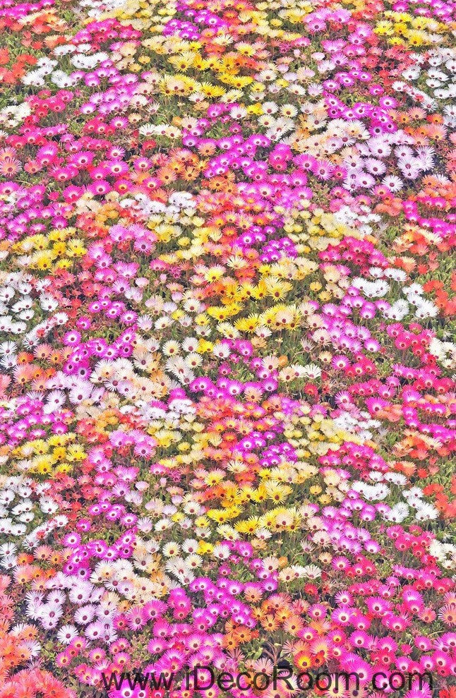 Pink Yellow White Daisy Flower 00027 Floor Decals 3D Wallpaper Wall Mural Stickers Print Art Bathroom Decor Living Room Kitchen Waterproof Business Home Office Gift