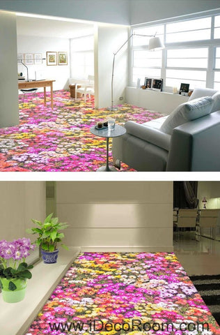 Image of Pink Yellow White Daisy Flower 00027 Floor Decals 3D Wallpaper Wall Mural Stickers Print Art Bathroom Decor Living Room Kitchen Waterproof Business Home Office Gift