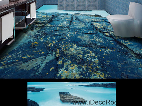 Mountain Rock Clouds Fog 00042 Floor Decals 3D Wallpaper Wall Mural Stickers Print Art Bathroom Decor Living Room Kitchen Waterproof Business Home Office Gift
