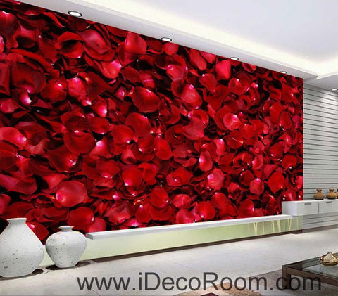 Image of Red Roses Lover Wedding Decor Gift 00050 Floor Decals 3D Wallpaper Wall Mural Stickers Print Art Bathroom Decor Living Room Kitchen Waterproof Business Home Office Gift