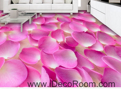 Image of Baby Pink Flower Petals Full 00051 Floor Decals 3D Wallpaper Wall Mural Stickers Print Art Bathroom Decor Living Room Kitchen Waterproof Business Home Office Gift