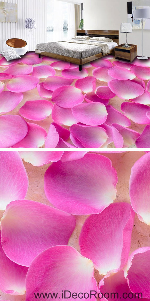 Baby Pink Flower Petals Full 00051 Floor Decals 3D Wallpaper Wall Mural Stickers Print Art Bathroom Decor Living Room Kitchen Waterproof Business Home Office Gift