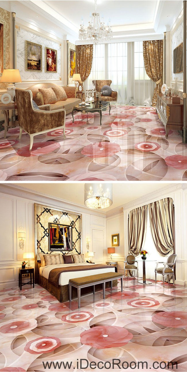 pink flower circle 00056 floor decals 3d wallpaper wall mural pink flower circle 00056 floor decals 3d wallpaper wall mural stickers print art bathroom decor living