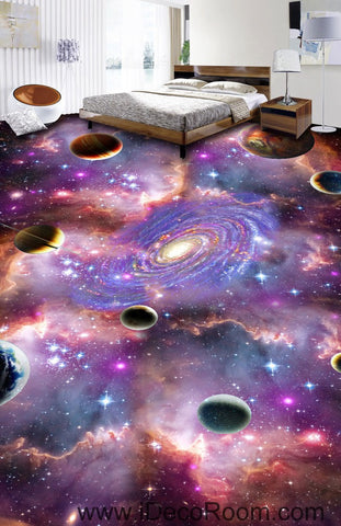 Image of Universe Planet Nebula Galaxy 00075 Floor Decals 3D Wallpaper Wall Mural Stickers Print Art Bathroom Decor Living Room Kitchen Waterproof Business Home Office Gift
