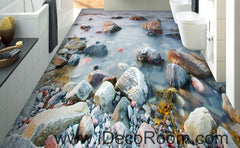Stone Riverside 00076 Floor Decals 3D Wallpaper Wall Mural Stickers Print Art Bathroom Decor Living Room Kitchen Waterproof Business Home Office Gift