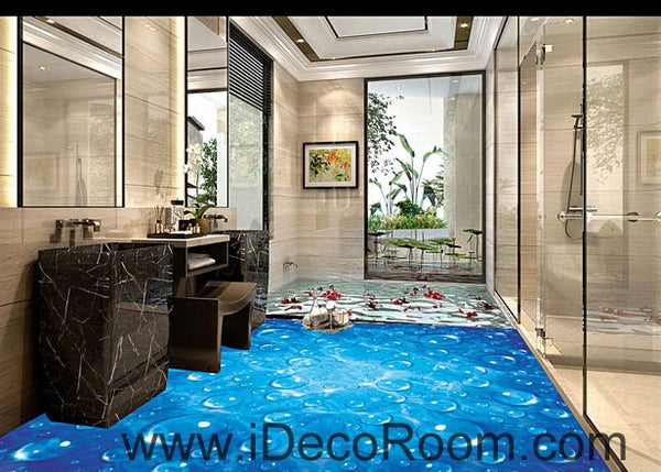 Blue Starry Night Sky Twinkle Star 00081 Floor Decals 3d