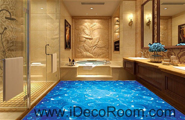 Blue Starry Night Sky Twinkle Star 00081 Floor Decals 3D Wallpaper Wall Mural Stickers Print Art Bathroom Decor Living Room Kitchen Waterproof Business Home Office Gift