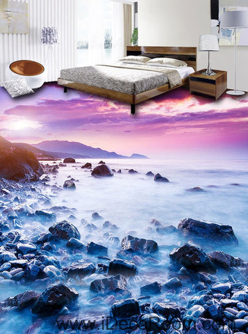 Mountain Top Clouds Sunrise 00090 Floor Decals 3D Wallpaper Wall Mural Stickers Print Art Bathroom Decor Living Room Kitchen Waterproof Business Home Office Gift