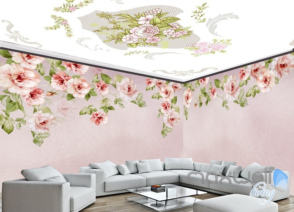 American pastoral hand painted entire room wallpaper wall mural decal IDCQW-000002
