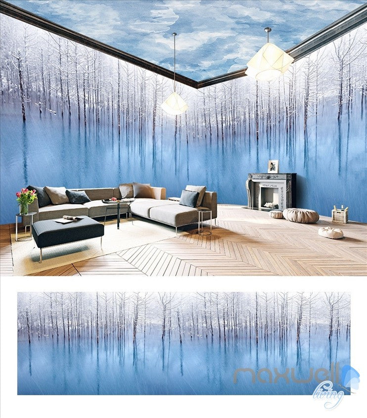 Art woods theme space entire room wallpaper wall mural decal IDCQW-000021