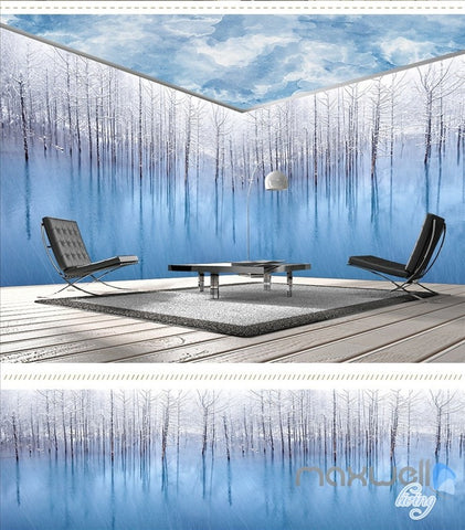 Image of Art woods theme space entire room wallpaper wall mural decal IDCQW-000021