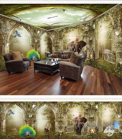 Image of Fantasy fairy tale wonderland forest entire room wallpaper wall mural decal IDCQW-000022