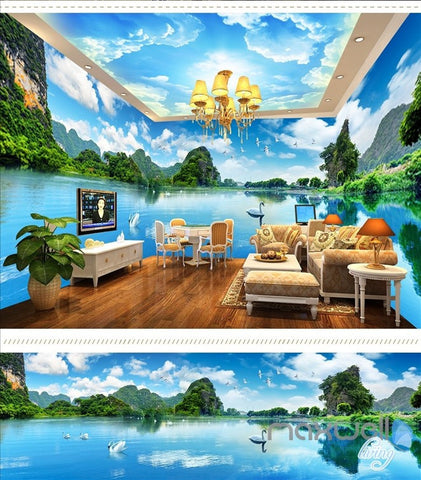 Huguang Mountain theme space entire room wallpaper wall mural decal IDCQW-000023