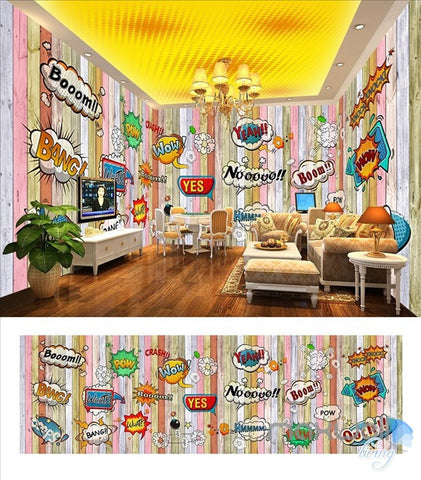 Image of Hot label theme space entire room wallpaper wall mural decal IDCQW-000024
