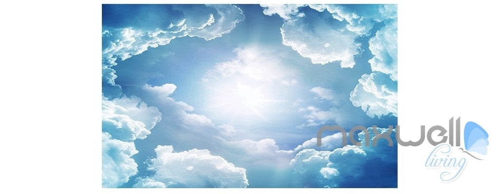 Cloud sea mountain peak bird theme entire room 3d for Cloud wallpaper mural