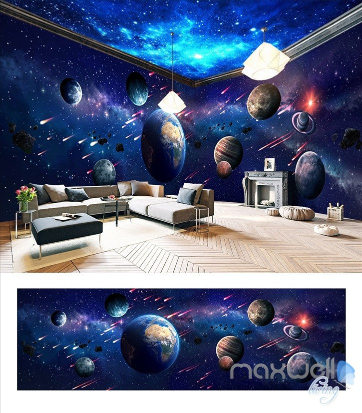 Space Universe Planet Theme Space Entire Room Wallpaper Wall Mural Decal Idcqw 000041