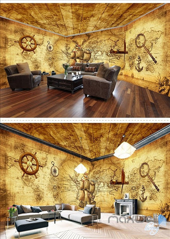 Image of Pirates of the Caribbean retro entire room wallpaper wall mural decal IDCQW-000047