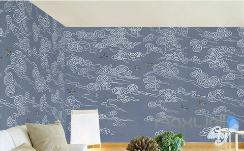 Classic Clouds Birds Abstract Patterns entire room wallpaper wall mural decals Art Prints IDCQW-000075