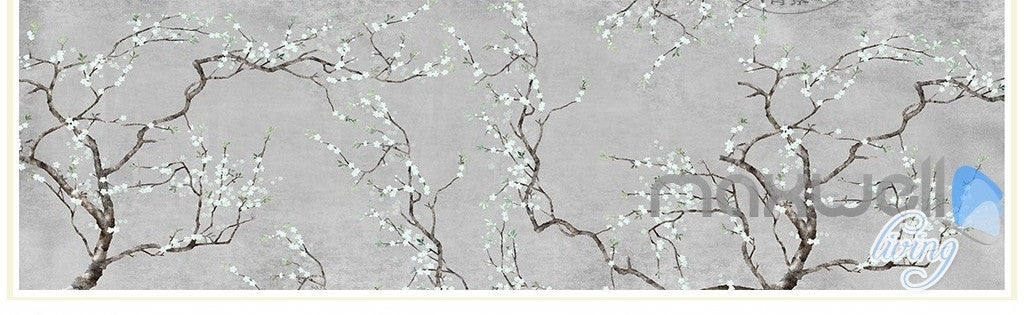 Classical flowers Blossom entire room wallpaper wall mural decals Livingroom Bedroom IDCQW-000076