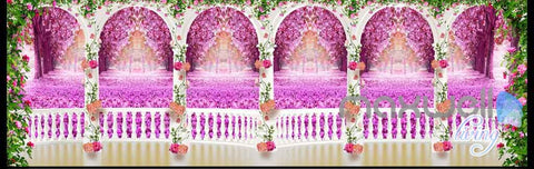 Image of 3D Rose Vine Arch Entire Room 3D Wallpaper Wall Murals Art Print Wedding Decor IDCQW-000083