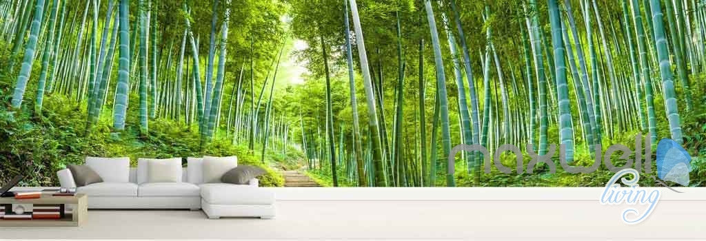 Wall Mural Prints 3d bamboo forest entire room wallpaper wall mural art prints idcqw
