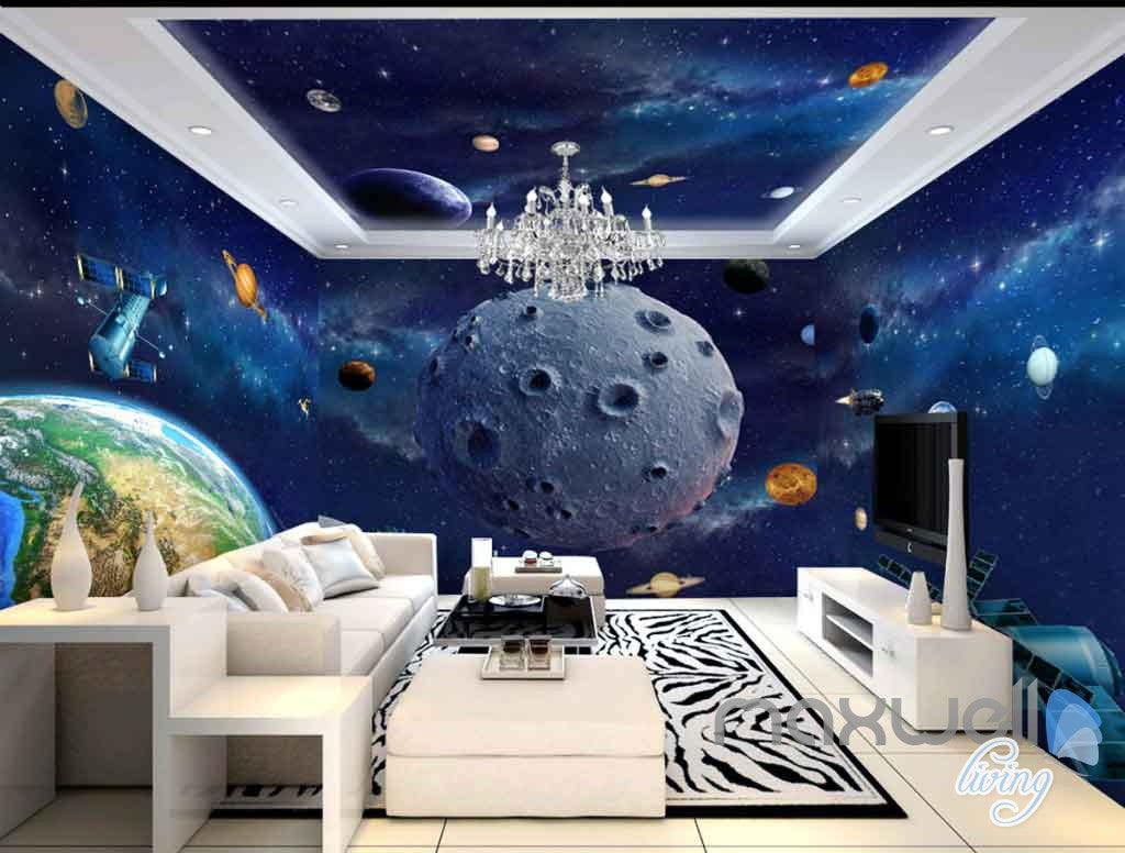 3d earth planet ceiling entire room wallpaper wall murals art 3d earth planet ceiling entire room wallpaper wall murals art prints idcqw 000130