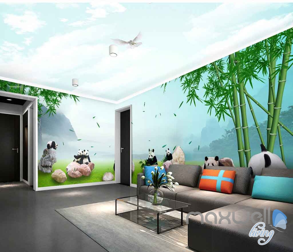 3d panda paradise bamboo entire room wallpaper wall murals art 3d panda paradise bamboo entire room wallpaper wall murals art idcqw 000140 amipublicfo Image collections