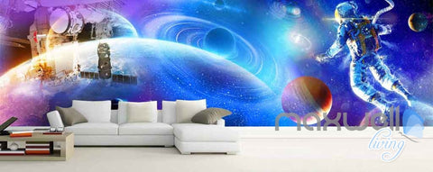 Image of 3D Astronauts Universe Ceiling Entire Room Wallpaper Wall Murals Art Prints IDCQW-000152