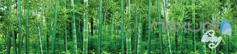 Image of 3D Large Bamboo Forest Ceiling Entire Living Room Wallpaper Wall Murals Art Prints IDCQW-000157