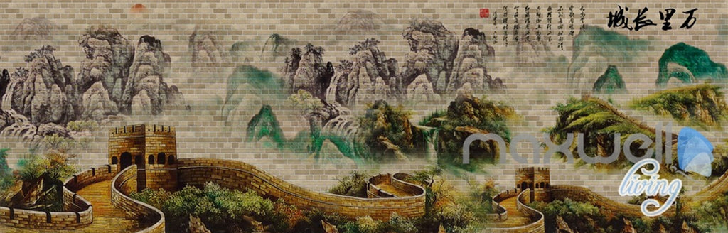 3D Classic Chinese The Great Wall Entire Room Wallpaper Mural Art Prints IDCQW-000167