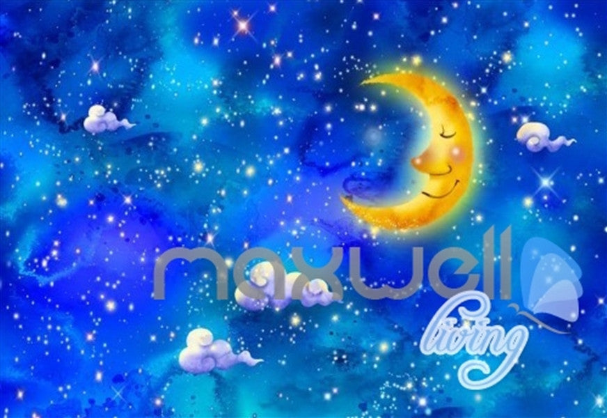 3D 12 Constellations Moon Ceiling Entire Living Room Wallpaper Wall Mural Art Decor IDCQW-000187