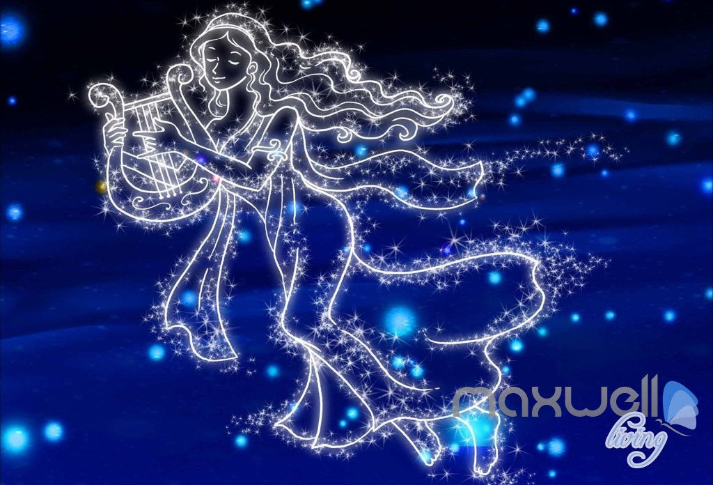 3D Aries Taurus Gemini Leo Virgo Night Sky Entire Room Bedroom Wallpaper Wall Mural Art IDCQW-000200