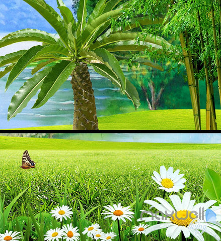 Image of 3D Guilin Mountain River Sunny Day Entire Living Room Wallpaper Wall Mural Art Decor IDCQW-000202