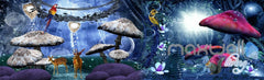3D Fantacy Moon Forest Mashroom Animals Entire Room Bedroom Wallpaper Wall Mural Art IDCQW-000221