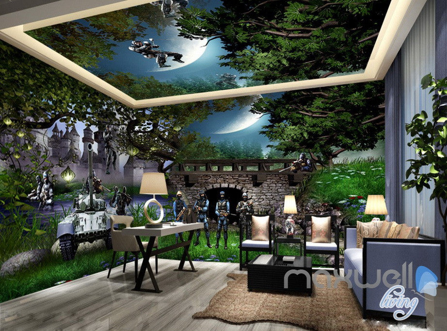 3D Tank Special Forces Army Entire Living Room Bedroom Wallpaper Wall Mural  Art IDCQW 000227