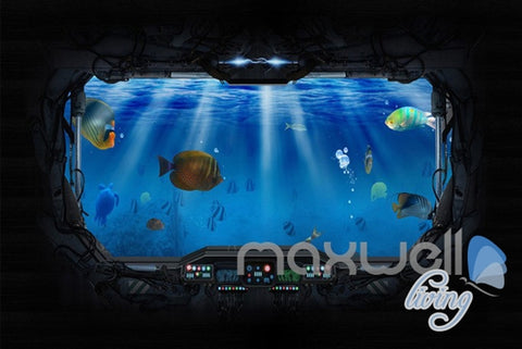 3D Underwater Craft Glass Window View Entire Room Bedroom Wallpaper Wall Mural Art IDCQW-000233