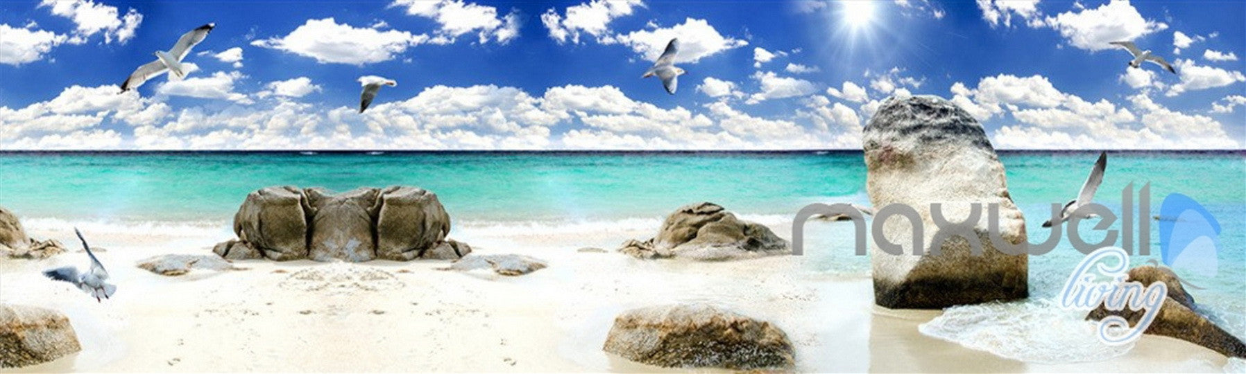 3d beach ocean seagull clouds sky ceiling entire living room wall 3d beach ocean seagull clouds sky ceiling entire living room wall mural art decor idcqw
