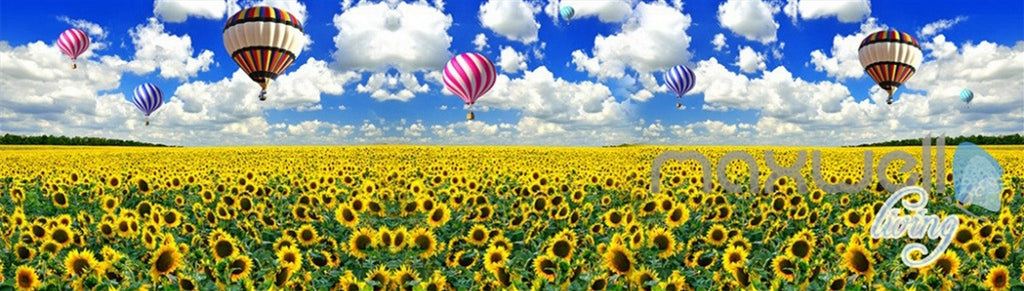 3D Airballon Flowers Entire Living Room Bedroom Wallpaper Wall Mural Art Decor IDCQW-000251