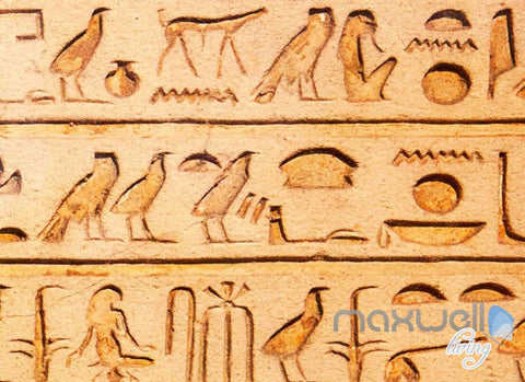 Image of 3D Egyptian Words Icons Entire Living Room Business Wallpaper Wall Mural Art Decor IDCQW-000253