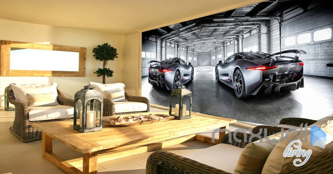 3D Racing Cars Modern Art Entire Living Room Office Wallpaper Wall