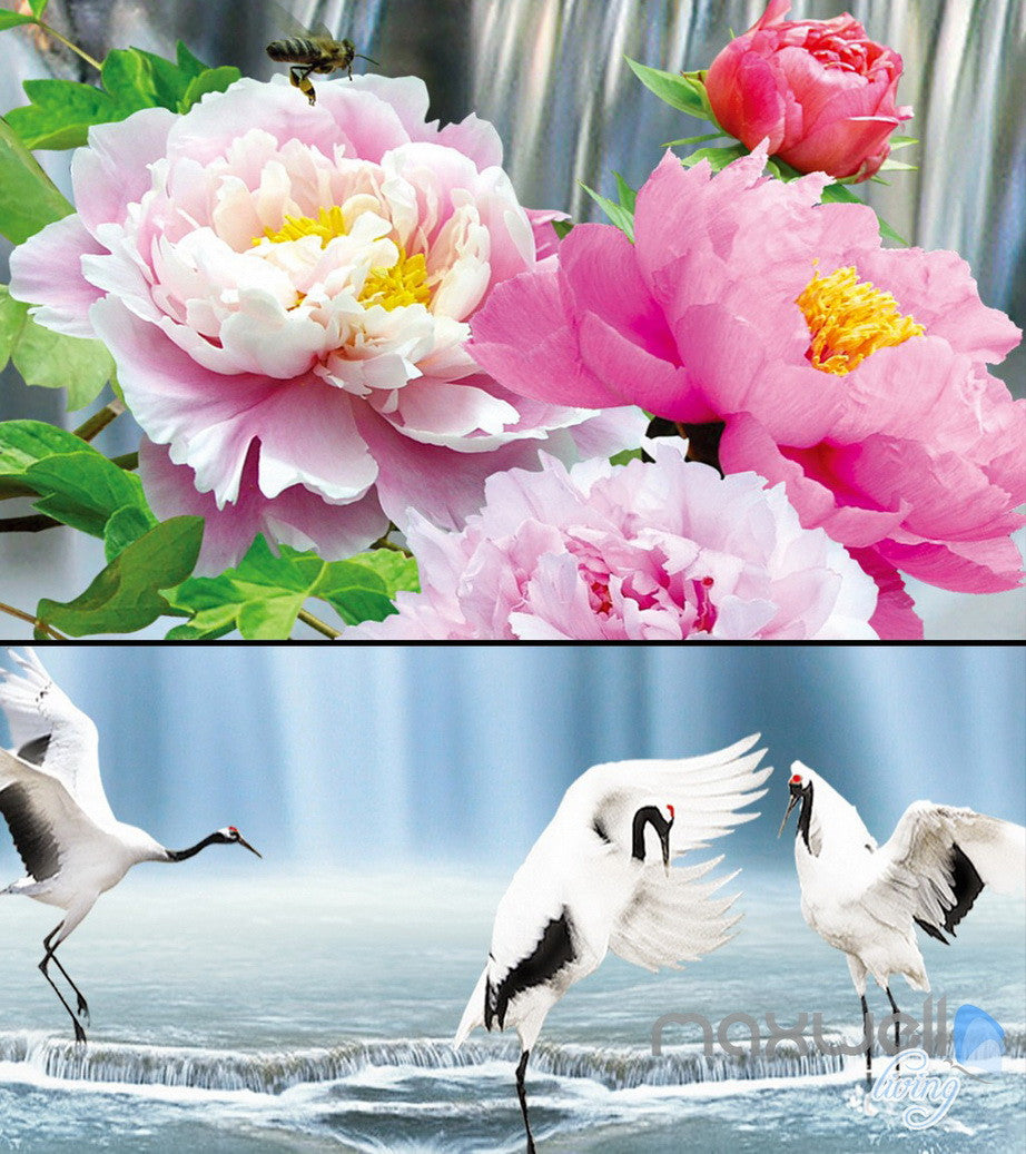 3d peony flower large waterfall entire living room bedroom 3d peony flower large waterfall entire living room bedroom wallpaper wall mural idcqw 000275