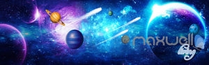 3D Comet Stars Universe Ceiling Entire Living Room Business Wallpaper Wall Mural IDCQW-000285
