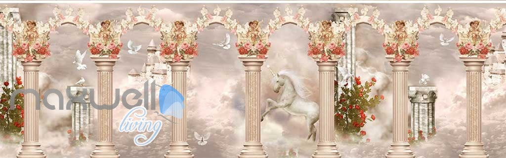 3D Little Angel Ceiling Pillar Wall Murals Wallpaper Decals Art Print Decor IDCQW-000312