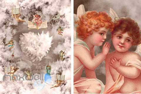 Image of 3D Little Angel Ceiling Pillar Wall Murals Wallpaper Decals Art Print Decor IDCQW-000312