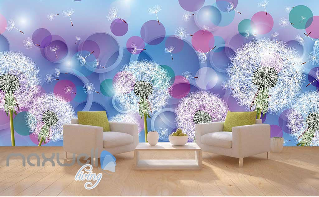 3D Dandelion Dream World Ceiling Wall Murals Wallpaper Decals Art Print IDCQW-000314