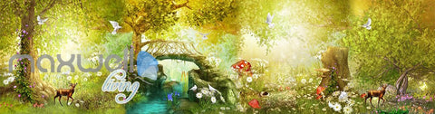 3D Vintage Fairy Garden Wall Murals Wallpaper Decals Art Print Decor IDCQW-000326