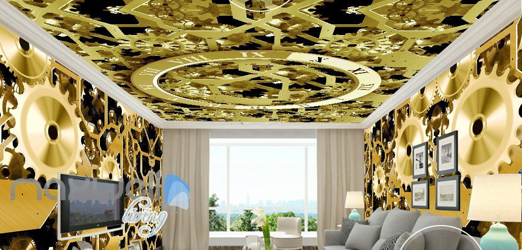 3D Watch Gear Machine Entire Room Wall Murals Wallpaper Paper Decals ...